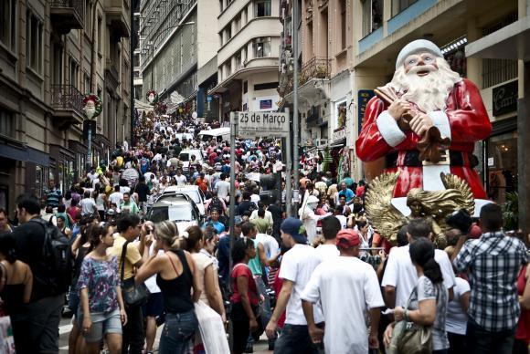 População brasileira supera os 204 milhões